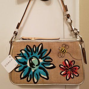 Coach # 8672 Bumblebee & Flower Embroidered bag